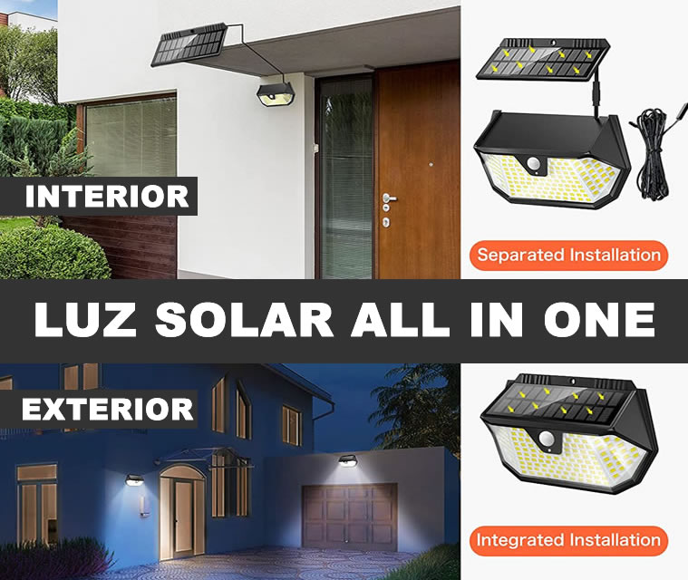lamparas led solares all in one