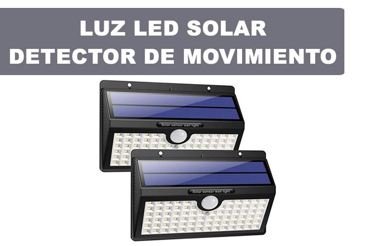 luz led solar sensor movimiento