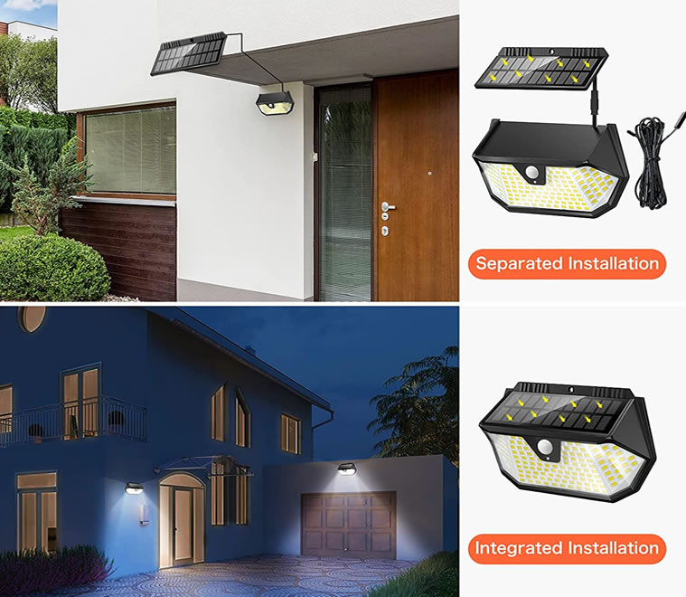 luz led panel solar independiente